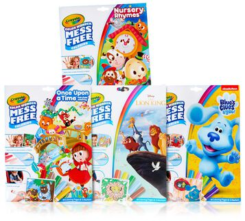 4-IN-1 COLOR WONDER ACTIVITY SET:</strong> Features 4 Color Wonder Mess Free Sets, including Nursery Rhymes Coloring Pages & Markers, Fairytales Coloring Pages & Markers, Lion King Coloring Pages & Markers, and Blue's Clues Coloring Pages & Markers.