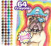 Crayola Pets Crayons, 64 Count with more than 20 pet colors