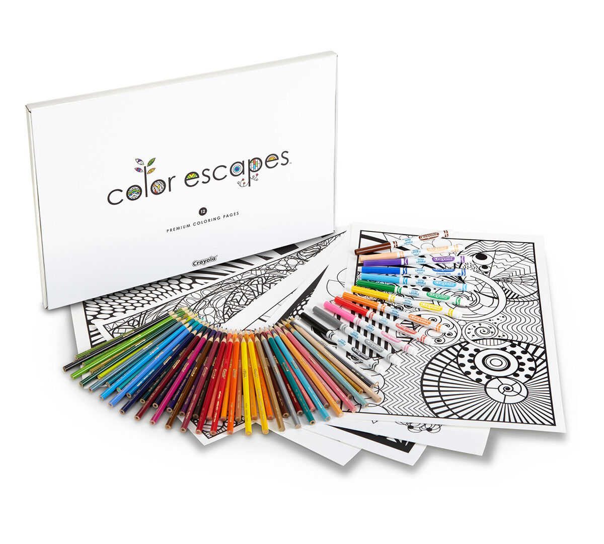 color escapes coloring kit geometric crayola