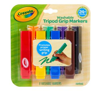 Washable Triangular Markers, 8 Count Front of Box