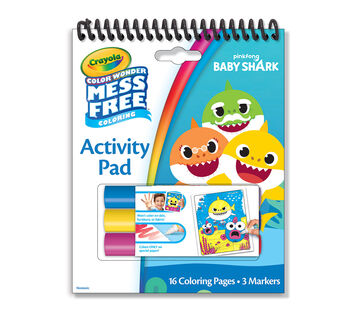 Color Wonder Mess Free Baby Shark Activity Pad