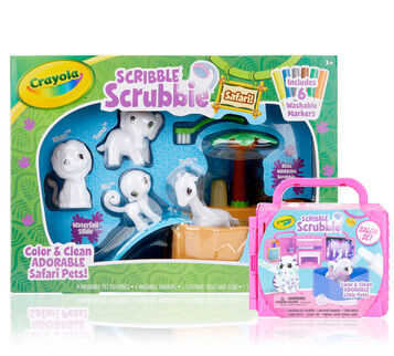 Scribble Scrubbie Pets Beauty Salon and Safari Playsets