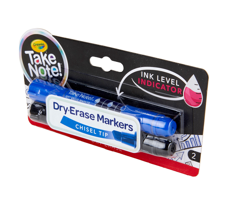 Take Note Black and Blue Dry Erase Markers, 2 Count
