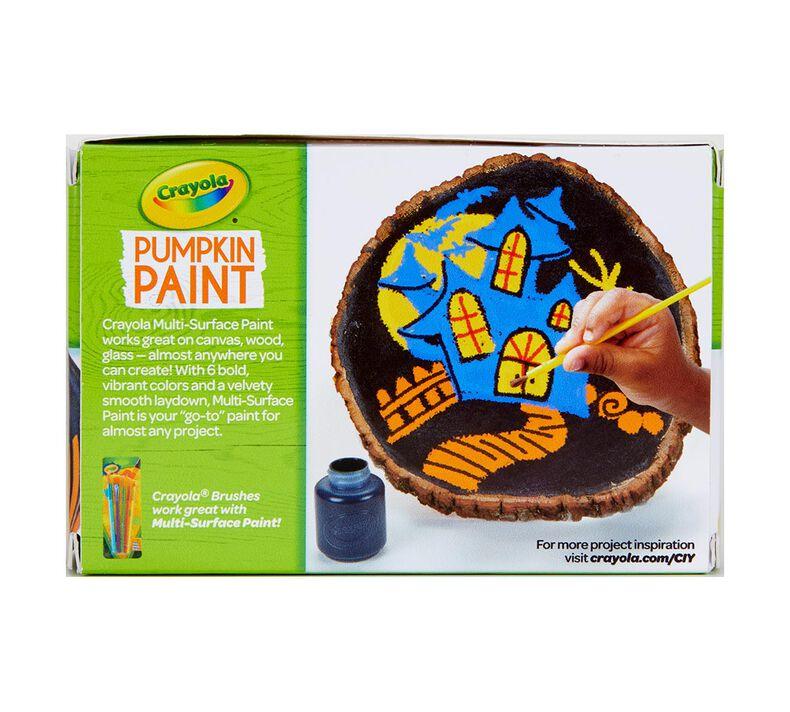 Acrylic Pumpkin Painting Set, Classic Colors