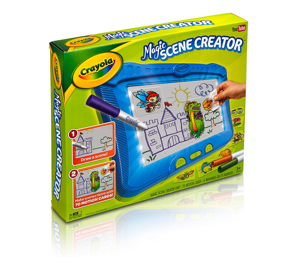 Crayola Magic Scene Creator Creative Activity Toy Turn Pictures