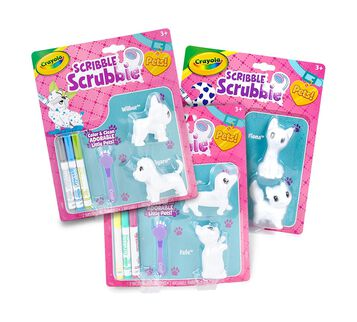 Scribble Scrubbie Color & Wash Collectible Toy Pets, Expansion Bundle