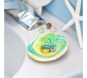 DIY Marbleized Jewelry Dish