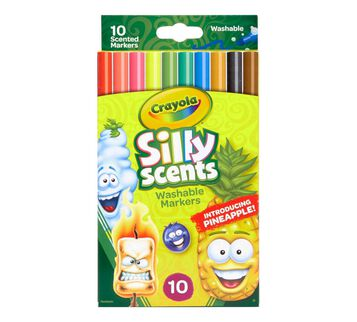 Silly Scents 10 count markers front view