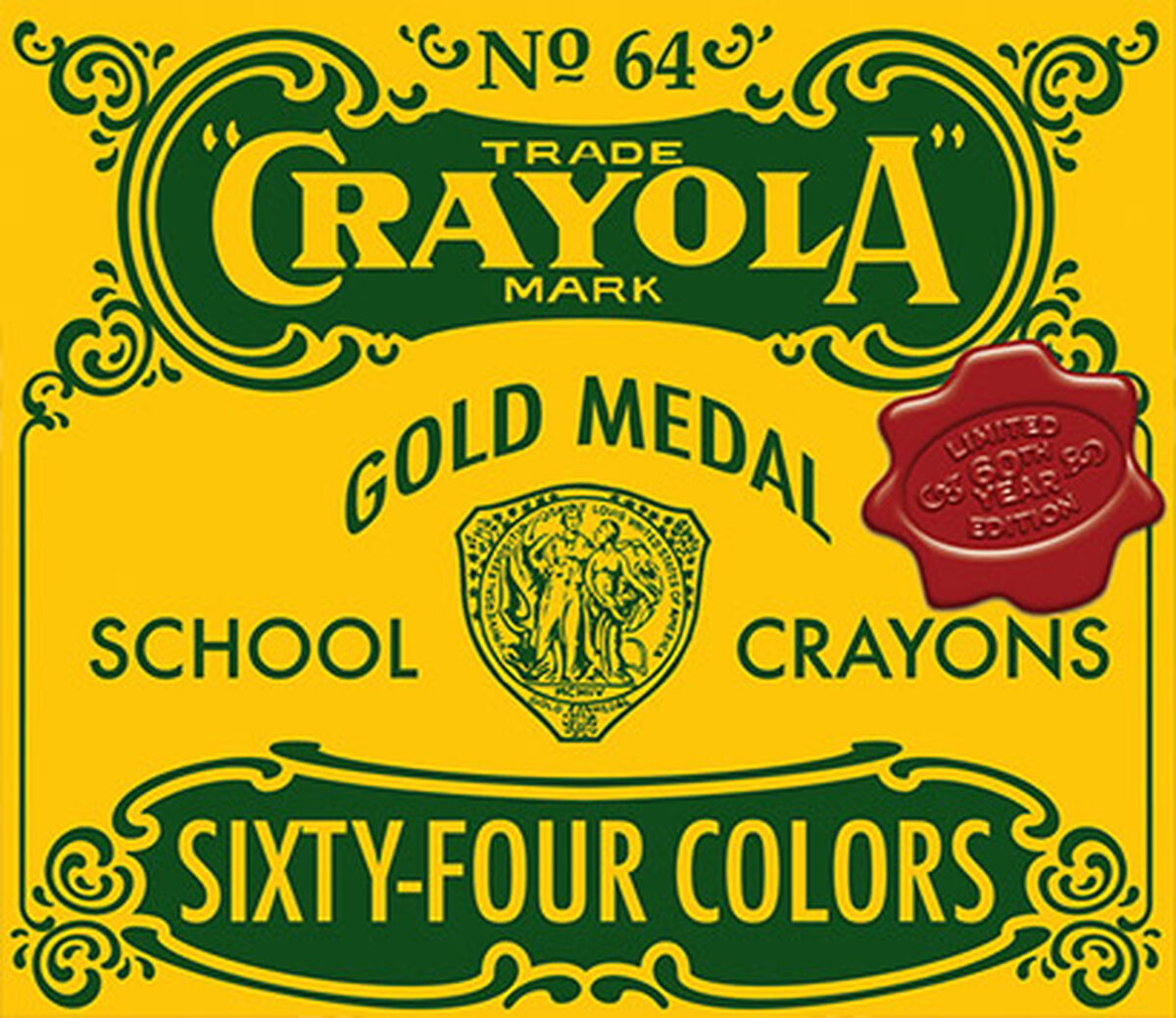 The Crayola Nostalgic Custom 64 Crayon Box
