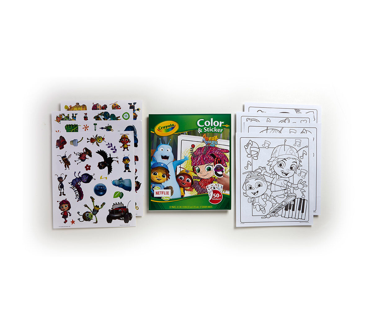 Crayola Color & Sticker Pages let kids use their imaginations for ...