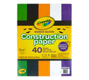 Halloween Construction Paper Front View of Package