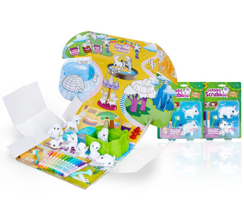 Scribble Scrubbie Peculiar Pets Zoo & Safari Animals Gift Set