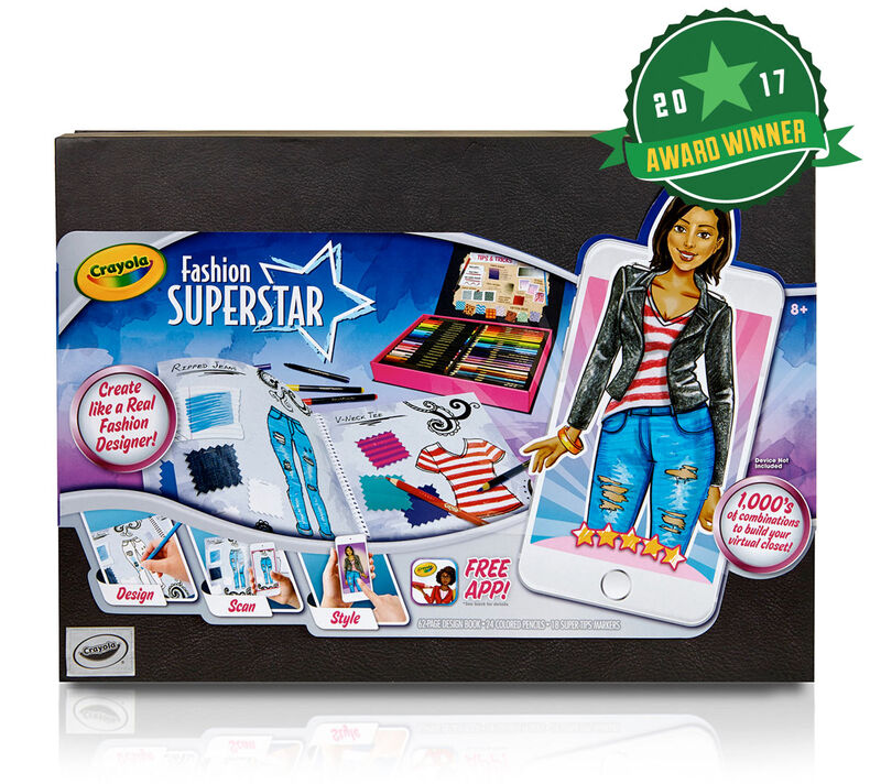 Crayola Fashion Superstar Virtual Fashion Designer Creative Activity Great Gift For Budding Fashion Designers Crayola