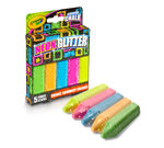 Washable Sidewalk Chalk Special Effects Neon Glitter 5 count front package