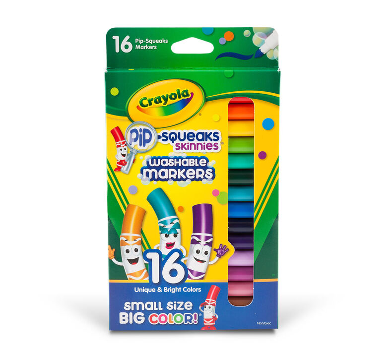 Pip-Squeaks Skinnies Marker, 16 Count