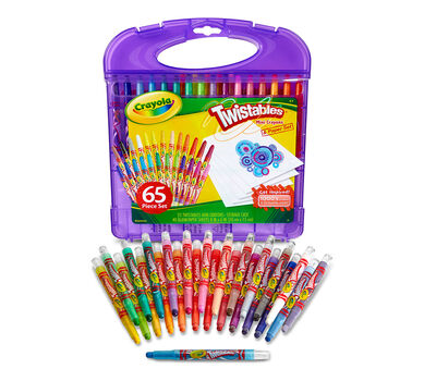 Crayola Mini Twistables Crayon Set, 65 Pieces, Art Set, Coloring Gifts ...