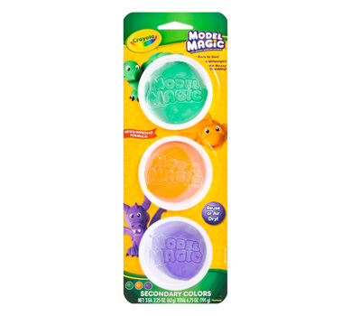Model Magic Reusable Tubs, Secondary Colors 3 ct  | Crayola