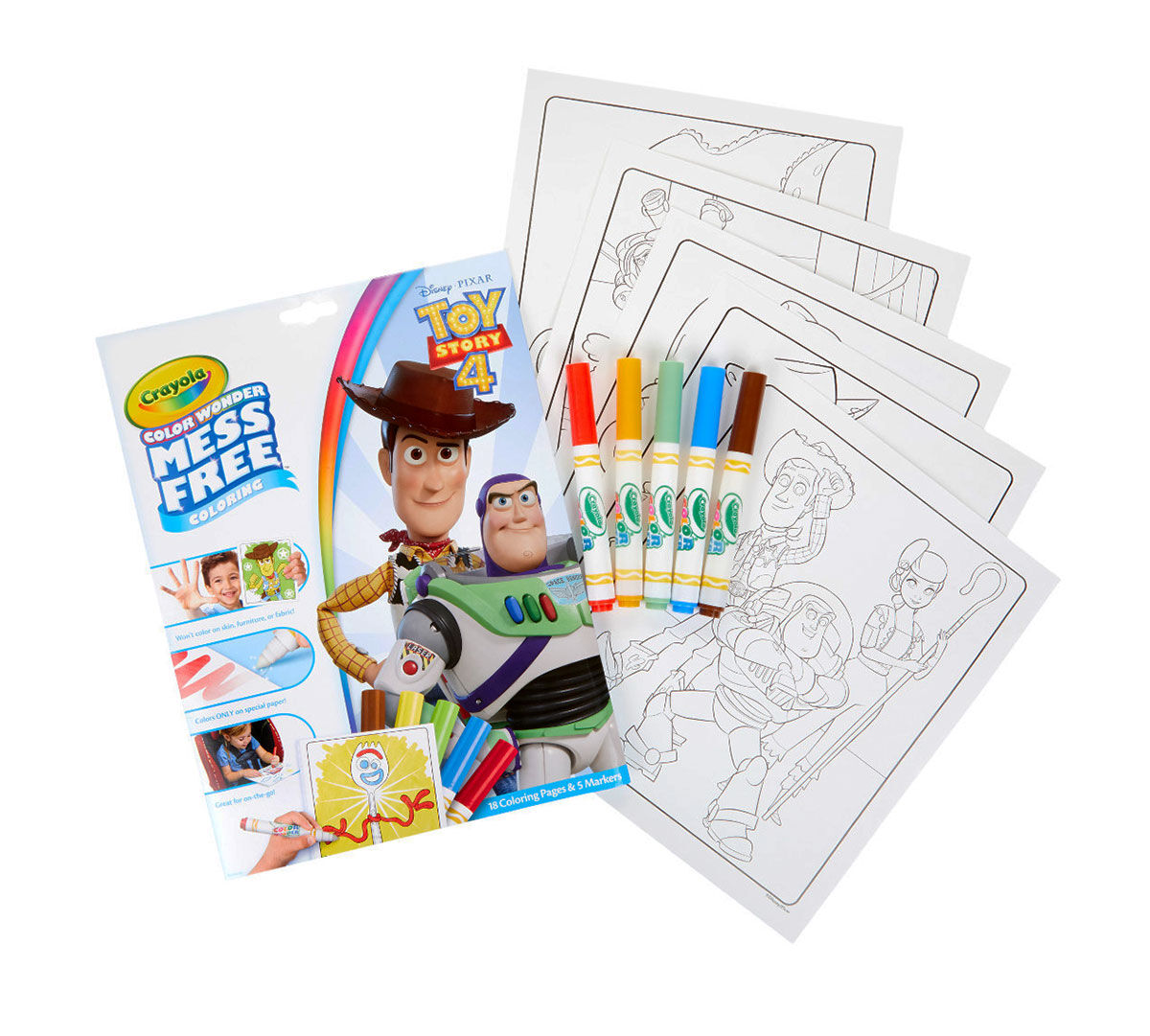 Toy Story 4 Color Wonder Coloring Book & Markers | Crayola ...