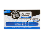 Take Note Blue Dry Erase Markers, 12 Count