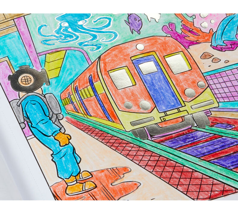 Art with Edge Art in the Streets Coloring Book