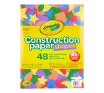Crayola Construction Paper Shapes 48 count front