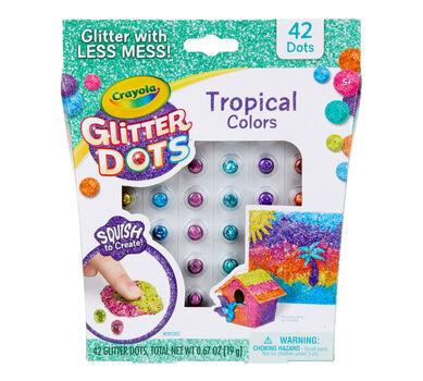 Glitter Dots, Tropical Colors, 42 Count