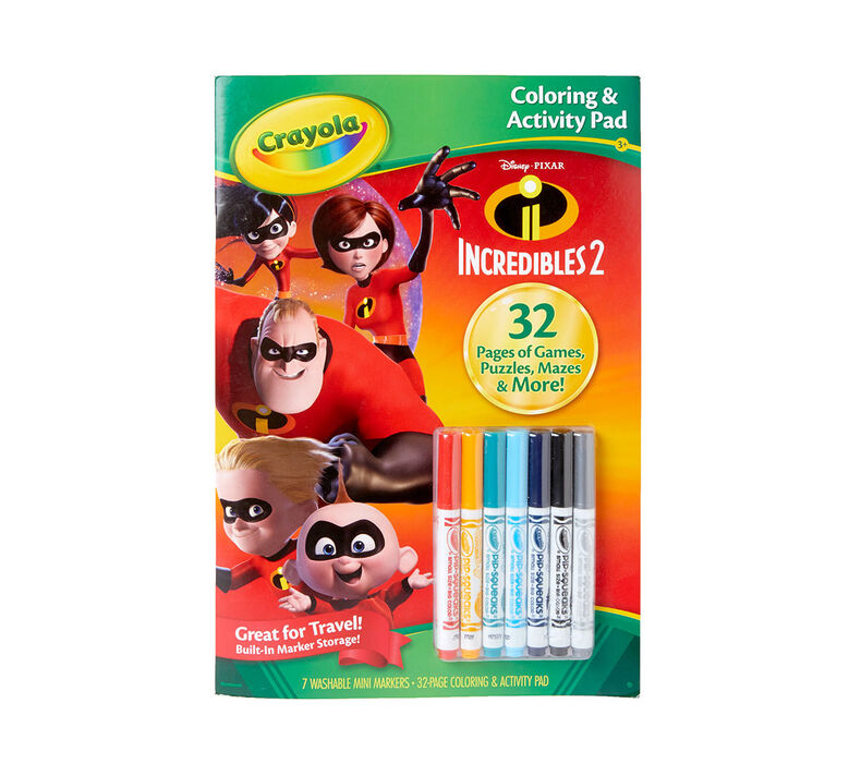 Coloring & Activity Pad with Markers, Incredibles 2