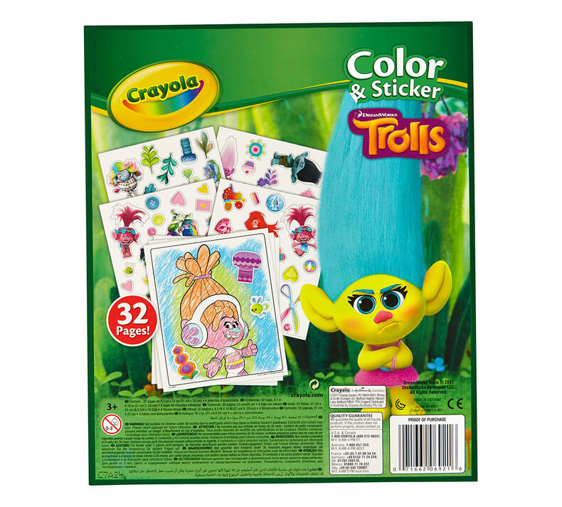 Trolls Color and Sticker Book