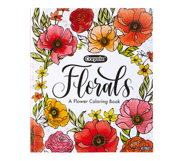 Crayola Florals Coloring Book Front View