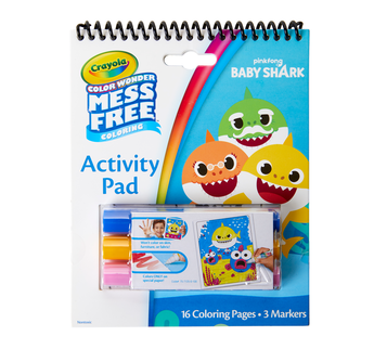Color Wonder Mess Free Baby Shark Activity Pad Front View