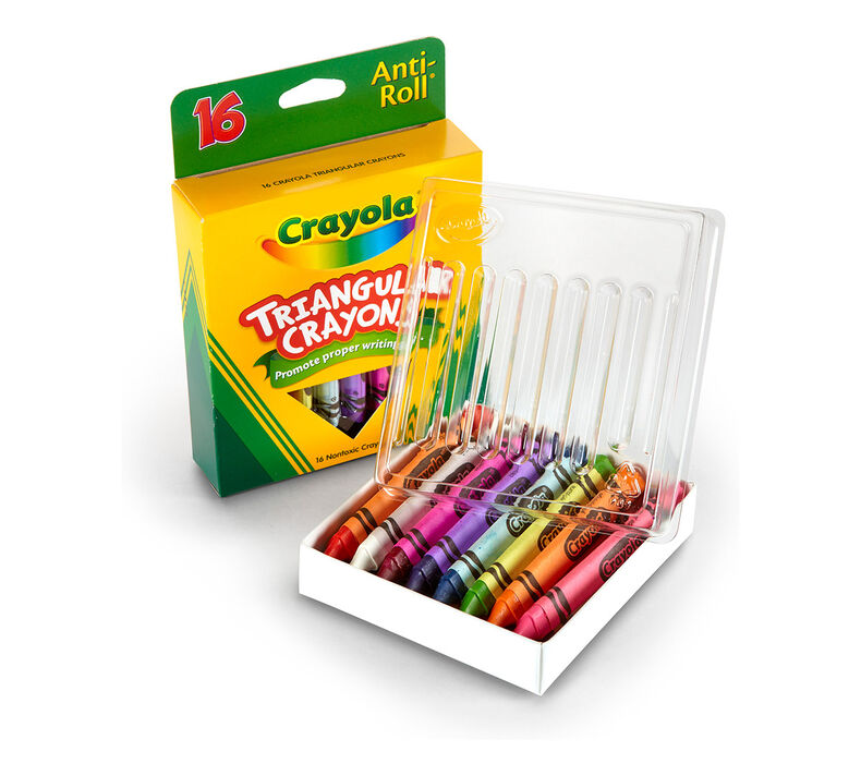 Anti-Roll Triangular Crayons 16 ct.