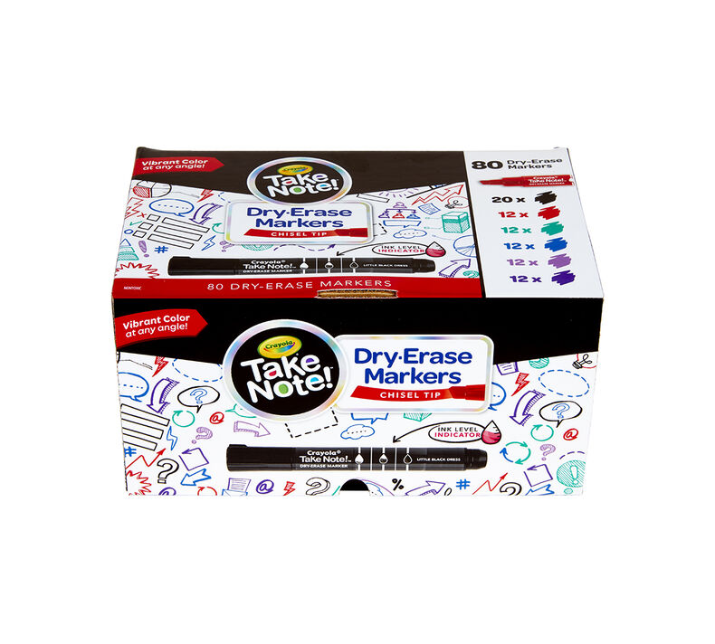 Take Note Dry Erase Markers Classpack, Bulk 80 Count