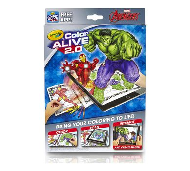 crayola avengers color alive 2 0 interactive coloring pages