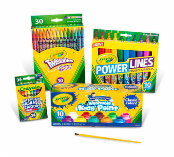 Back to School Supplies Kit with Paint  (Grades 4-6)