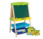 The Draw n Store Wood Easel Mega Kit supplies