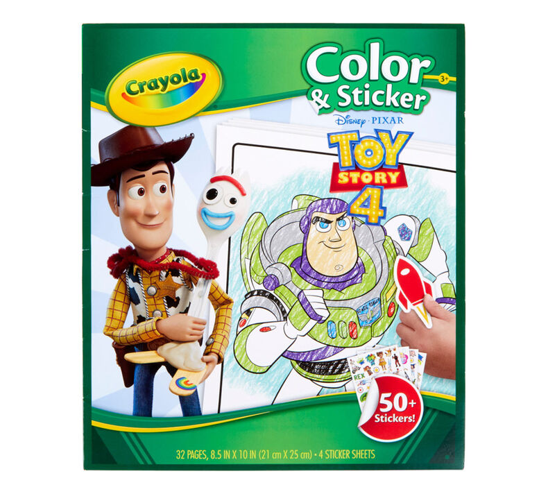 Toy Story 4 Color and Sticker Book