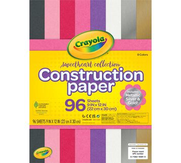 Sweetheart Collection Construction Paper Front View