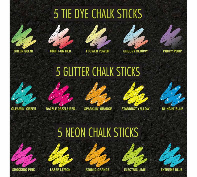 Sidewalk Chalk Special Effects Set, 30 Count