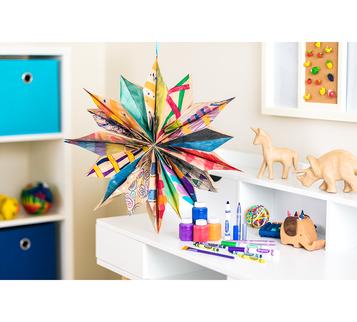DIY Paper Bag Stars Craft