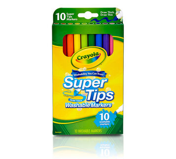 10 count SuperTips Markers front of package