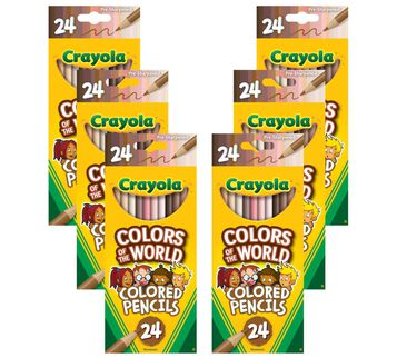 Colors of the World Colored Pencil 6pk Bundle front view