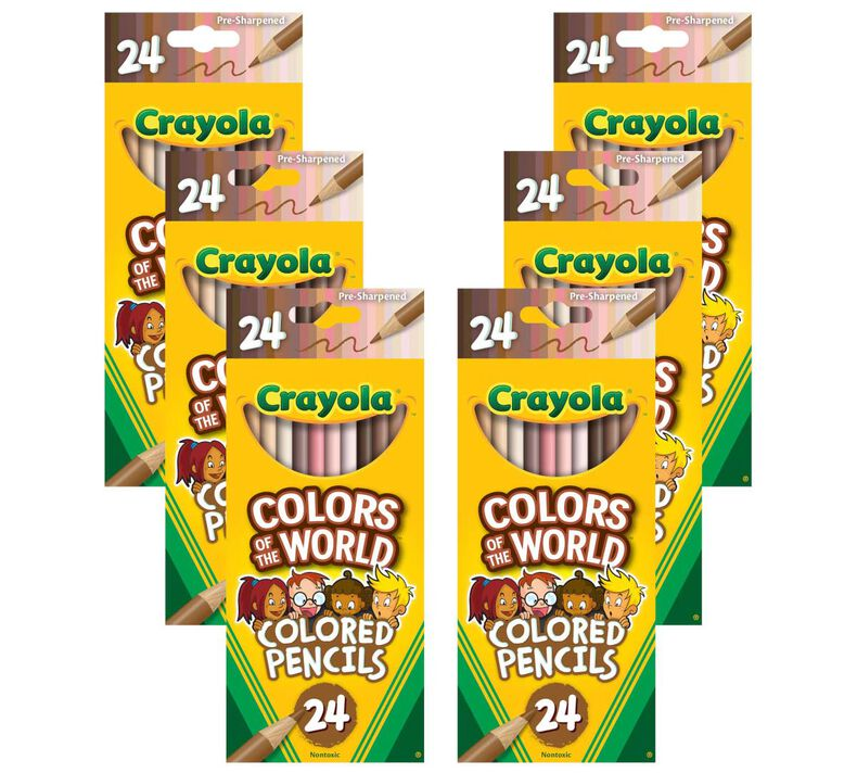 Colors of the World Bulk Colored Pencil Set, 6 Boxes of 24 Count Colored Pencils