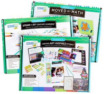 3-in-1 creatED Create-to-Learn Activity Kits, Grades 6-8