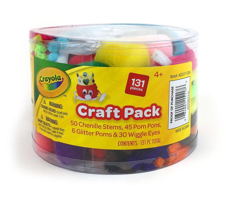 Pom Pom & Chenille Stem Craft Pack