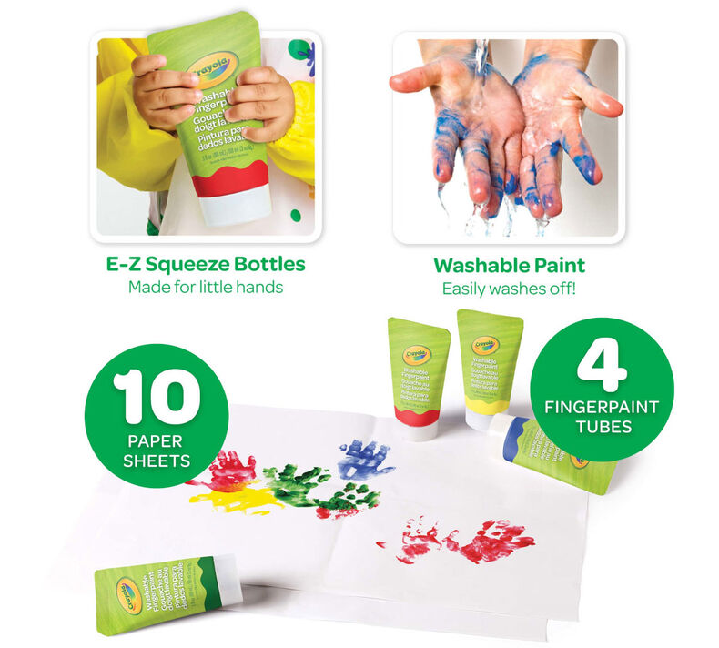 Washable Finger Paint Set for Toddlers