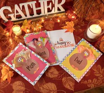 Turkey Thanksgiving Card Craft