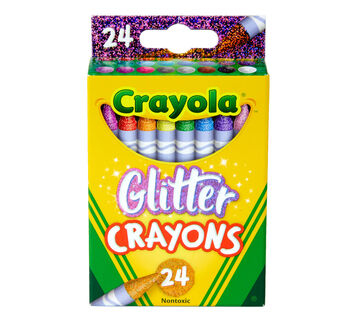 Glitter Crayons, 24 Count Front View of Package