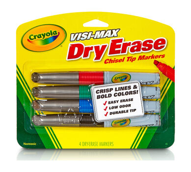 Visi-Max Dry Erase Markers, Chisel Tip, 4 Count
