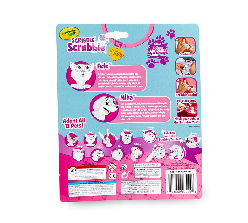 Scribble Scrubbie Pets, Dog & Cat, 2 Count