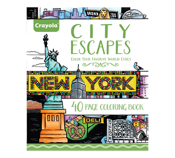 City Escapes Coloring Book front cover